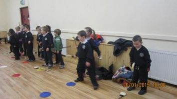 Hurling training in the hall 002