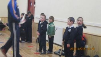 Hurling training in the hall 005